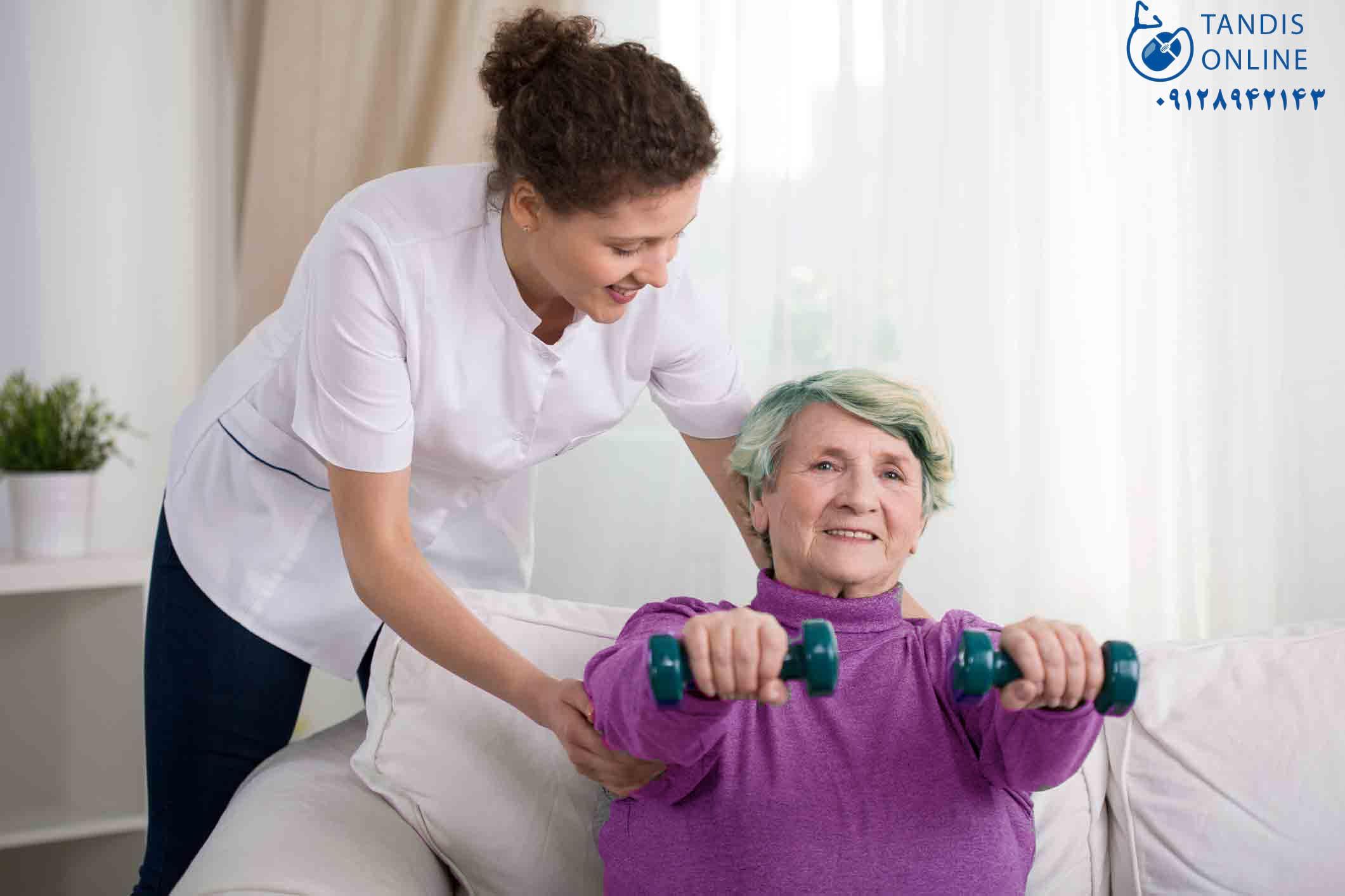 مراقب بیمار در محل